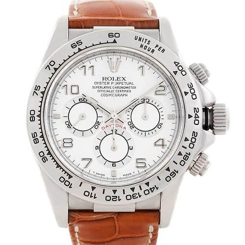 Photo of Rolex Cosmograph Daytona 18K White Gold Watch 16519
