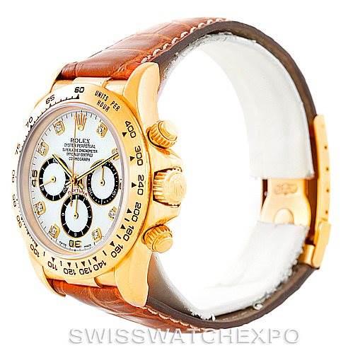 Rolex Cosmograph Daytona 18K Yellow Gold Diamond Watch 16518 SwissWatchExpo
