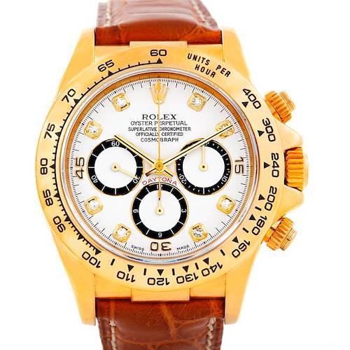 Photo of Rolex Cosmograph Daytona 18K Yellow Gold Diamond Watch 16518