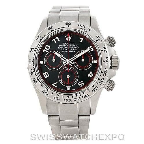Rolex Cosmograph Daytona 18K White Gold Watch 116509 SwissWatchExpo