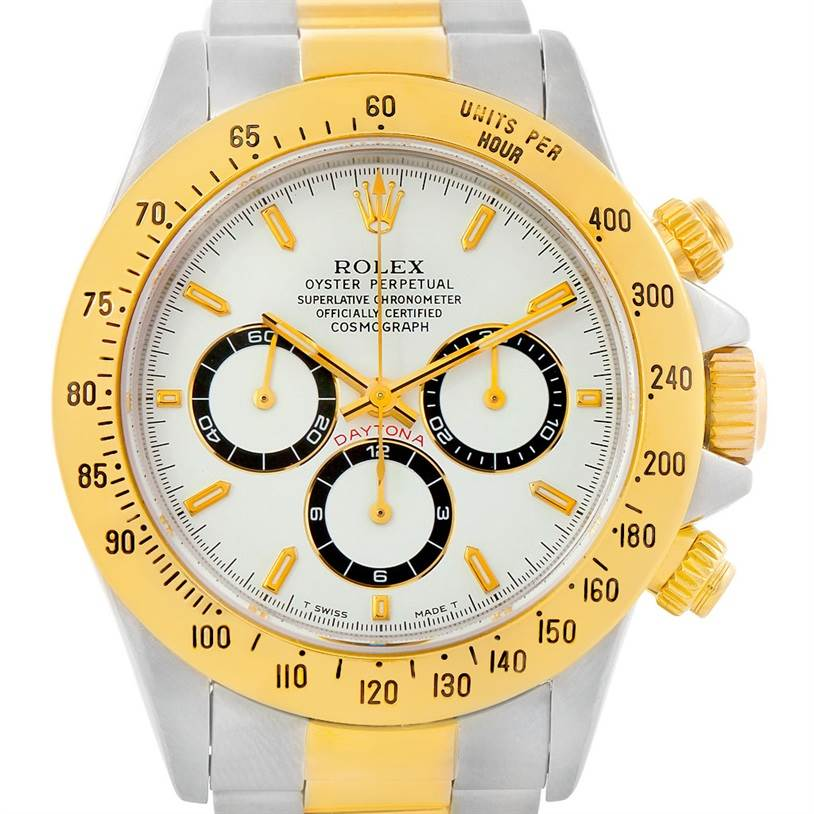 7376 Rolex Cosmograph Daytona Steel and Gold Mens Watch 16523 SwissWatchExpo