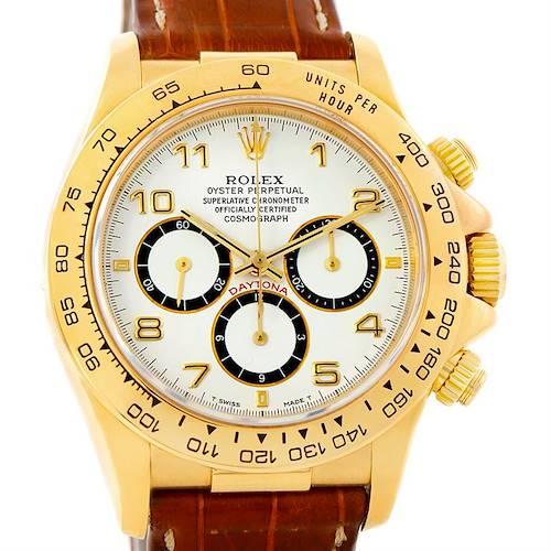 Photo of Rolex Cosmograph Daytona 18K Yellow Gold White Dial Watch 16518
