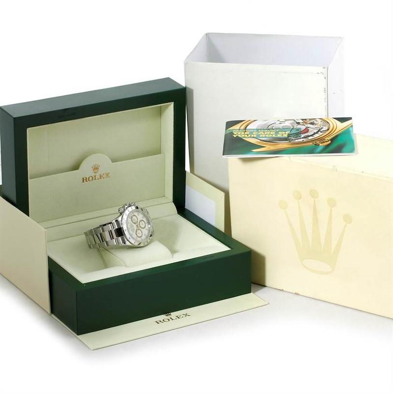 Rolex Cosmograph Daytona Steel White Dial Mens Watch 116520 SwissWatchExpo