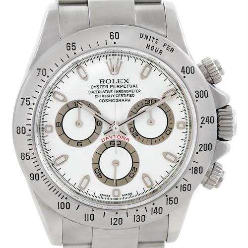 Photo of Rolex Cosmograph Daytona Steel White Dial Mens Watch 116520