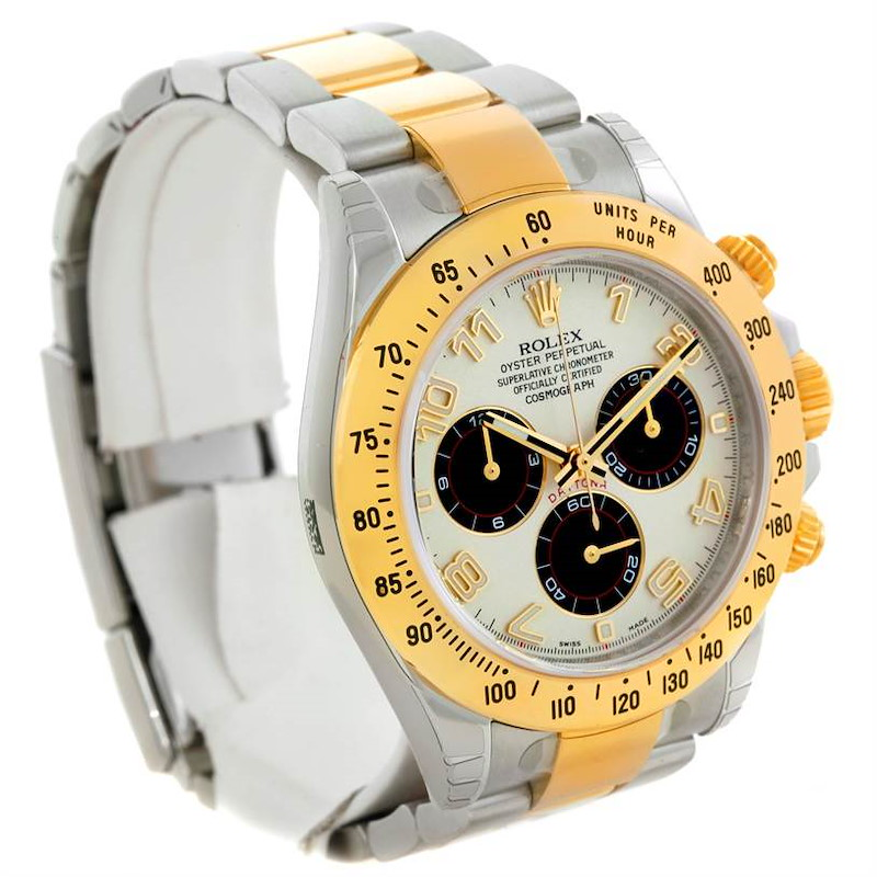 Rolex Cosmograph Daytona Panda Steel Yellow Gold Watch 116523 Unworn SwissWatchExpo