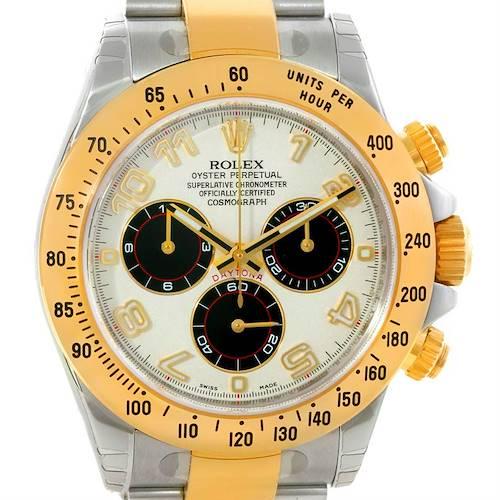 Photo of Rolex Cosmograph Daytona Panda Steel Yellow Gold Watch 116523 Unworn