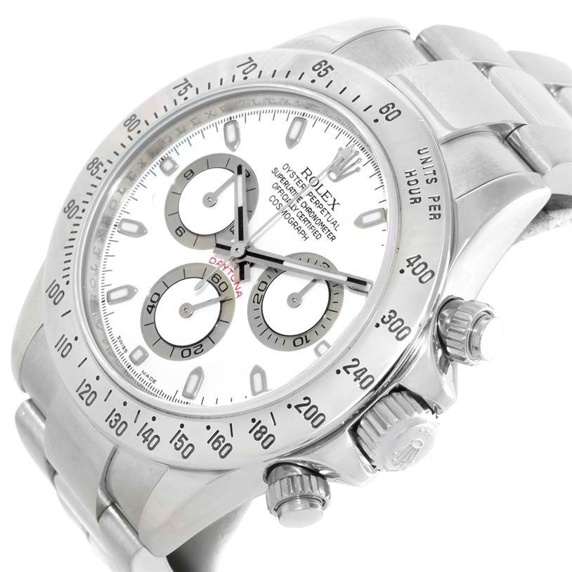9924P Rolex Cosmograph Daytona Steel White Dial Mens Watch 116520 SwissWatchExpo