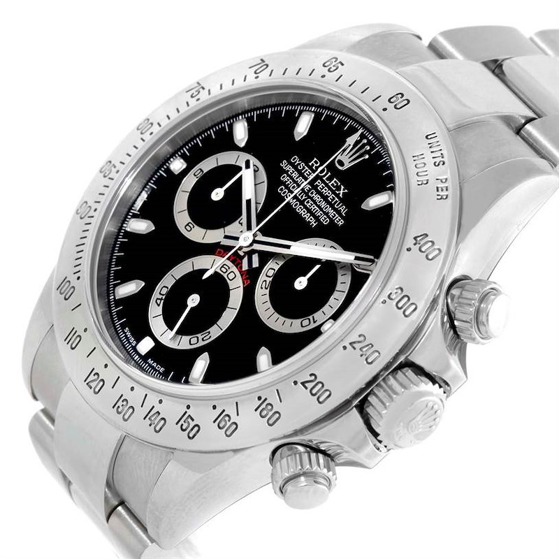 Rolex Cosmograph Daytona Steel Black Dial Mens Watch 116520 SwissWatchExpo