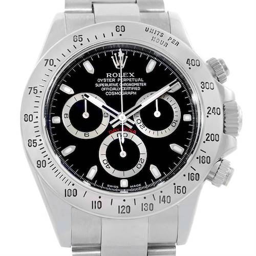 Photo of Rolex Cosmograph Daytona Steel Black Dial Mens Watch 116520