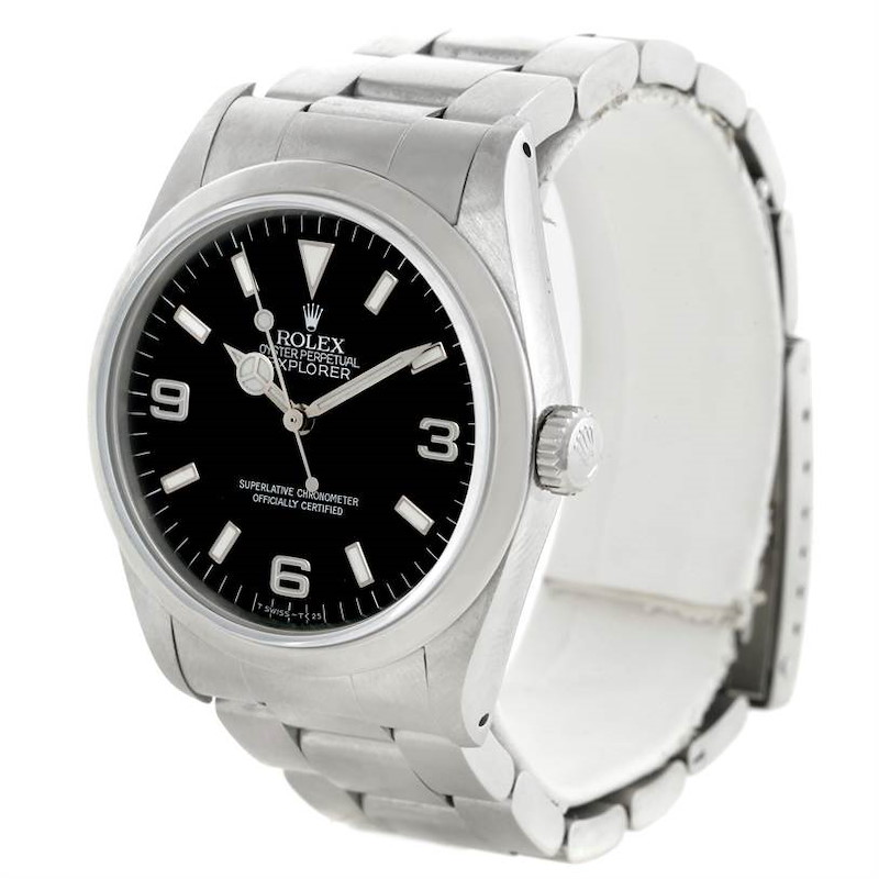 Rolex Explorer I Automatic Mens Stainless Steel Watch 14270 SwissWatchExpo