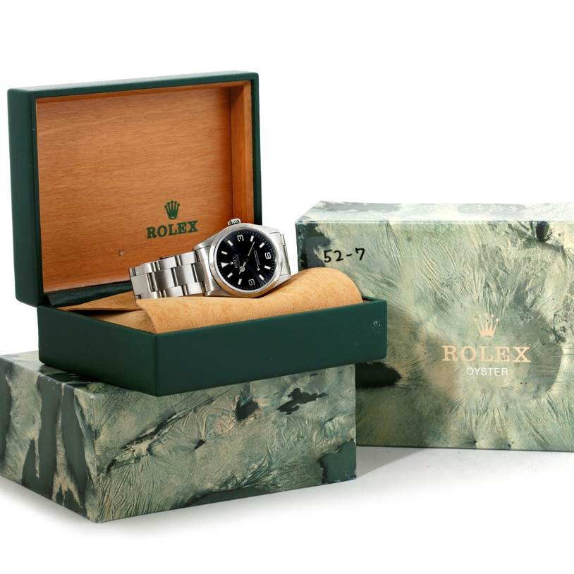 9380 Rolex Explorer I Automatic Mens Stainless Steel Watch 14270 SwissWatchExpo