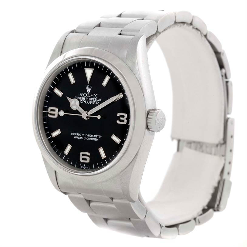 9379 Rolex Explorer I Automatic Mens Stainless Steel Watch 14270 SwissWatchExpo