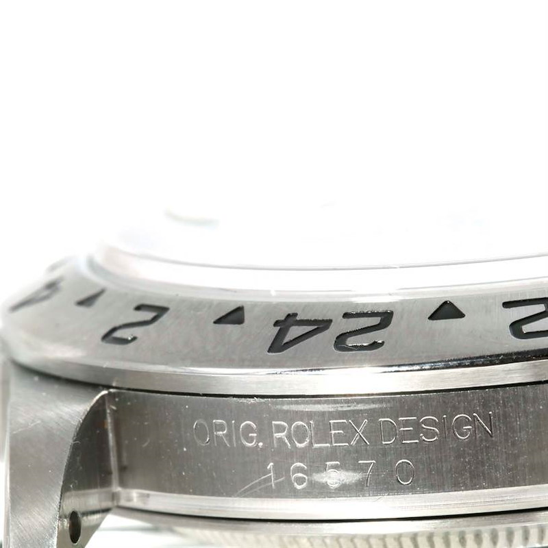 Rolex Explorer II White Dial Steel Mens Watch 16570 Year 1999 SwissWatchExpo
