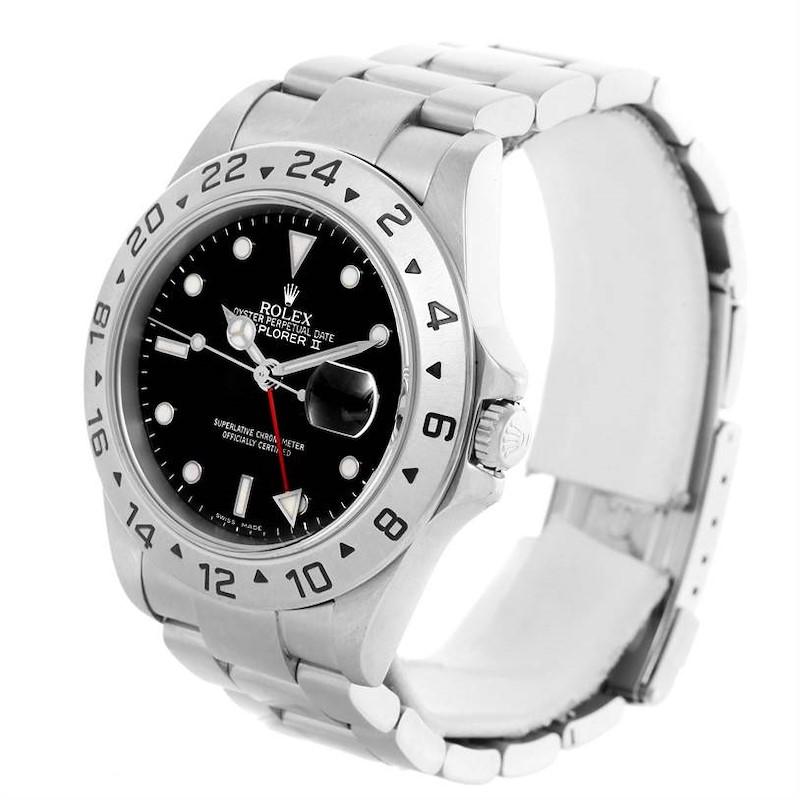 Rolex Explorer II Black Dial Steel Mens Watch 16570 Year 2006 SwissWatchExpo