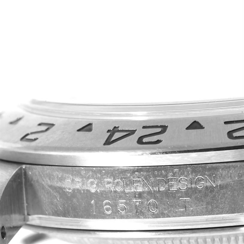 10305 Rolex Explorer II Black Dial Steel Mens Watch 16570 Year 2006 SwissWatchExpo