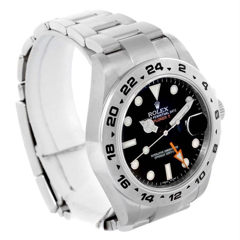 Rolex Explorer II Mens Stainless Steel Black Dial 42mm Watch 216570 SwissWatchExpo