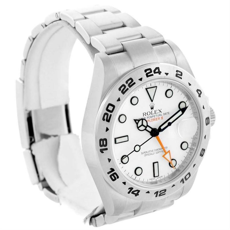 Rolex Explorer II Stainless Steel White Dial Watch 216570 Year 2013 SwissWatchExpo