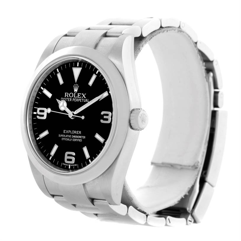Rolex Explorer I Stainless Steel Mens Watch 214270 Box Papers SwissWatchExpo