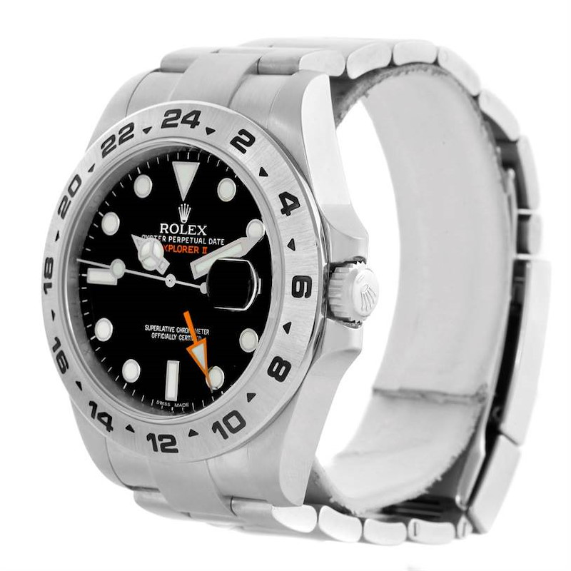 Rolex Explorer II Automatic Black Dial Watch 216570 Box Papers Unworn SwissWatchExpo
