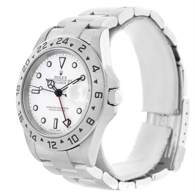 Rolex Explorer II White Dial Automatic Mens Watch 16570 Year 2005 SwissWatchExpo