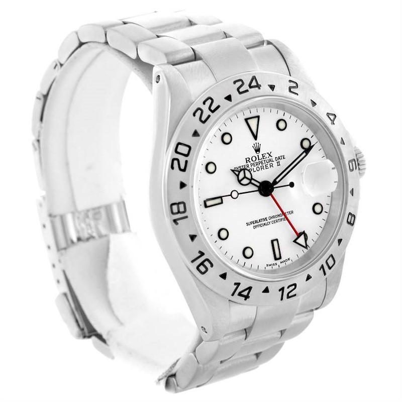 Rolex Explorer II White Dial Mens Watch Steel 16570 Year 2001 SwissWatchExpo