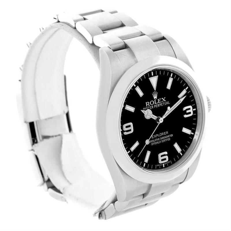 Rolex Explorer I Steel Oyster Bracelet Watch 214270 Year 2009 SwissWatchExpo