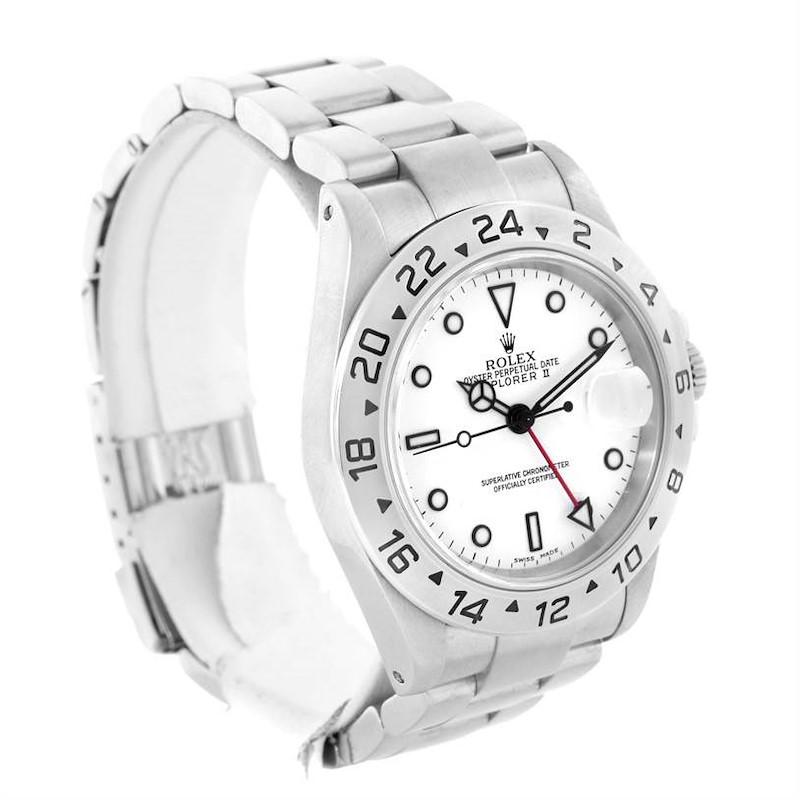 Rolex Explorer II White Dial Steel Mens Watch 16570 Year 2000 SwissWatchExpo