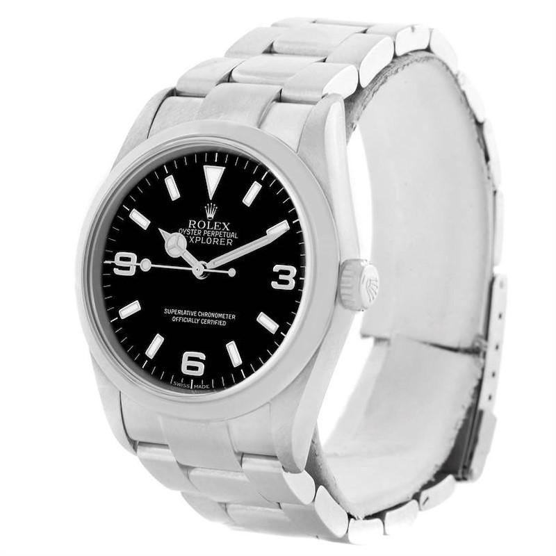 Rolex Explorer I Black Dial Stainless Steel Mens Watch 114270 Year 2004 SwissWatchExpo