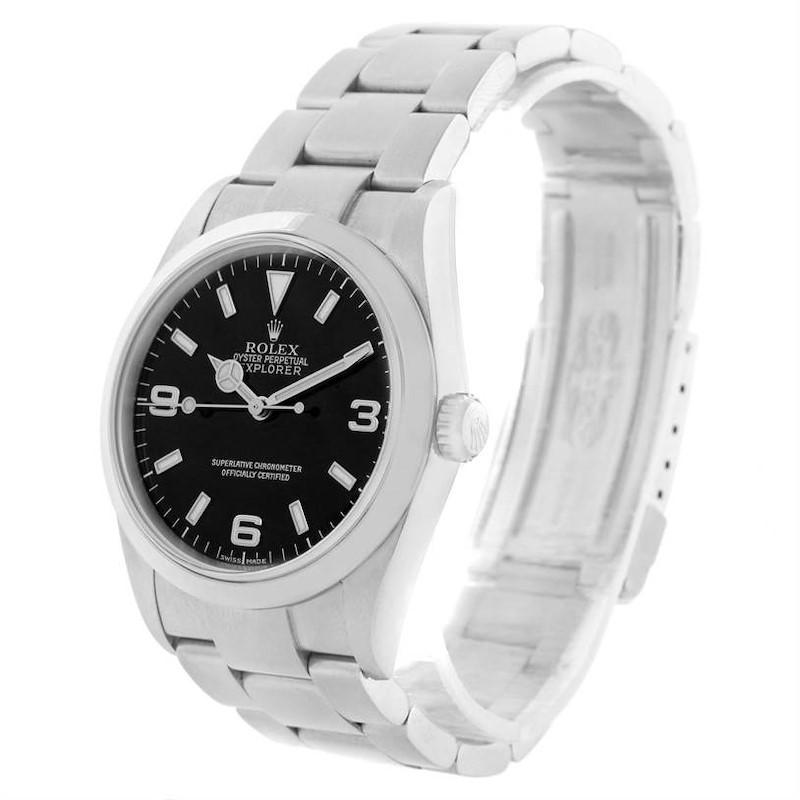 Rolex Explorer I Black Dial Stainless Steel Mens Watch 114270 Unworn SwissWatchExpo