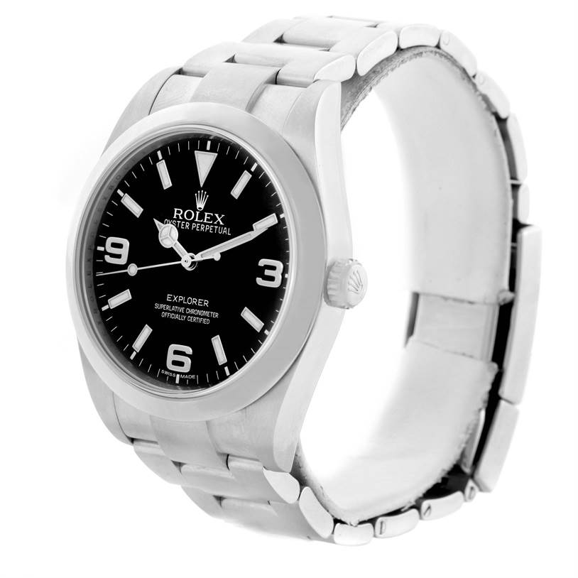 Rolex Explorer I Stainless Steel Oyster Bracelet Watch 214270 SwissWatchExpo