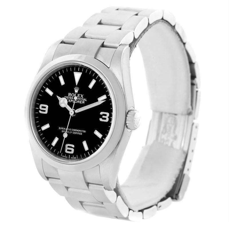 Rolex Explorer I Black Dial Oyster Bracelet Mens Watch 114270 Year 2004 SwissWatchExpo