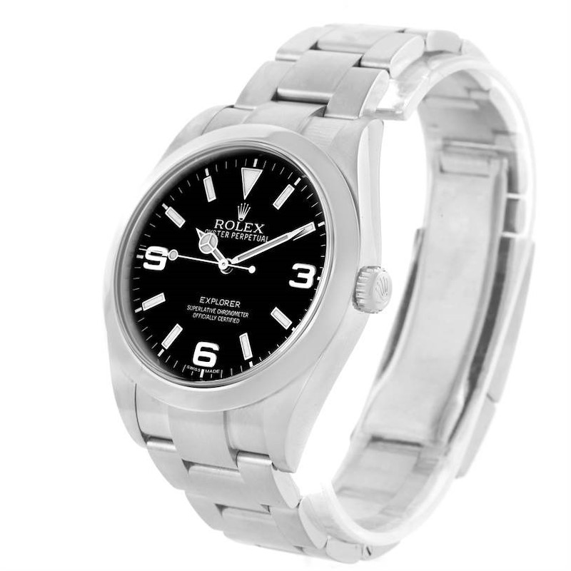 Rolex Explorer I Stainless Steel Oyster Bracelet Mens Watch 214270 SwissWatchExpo