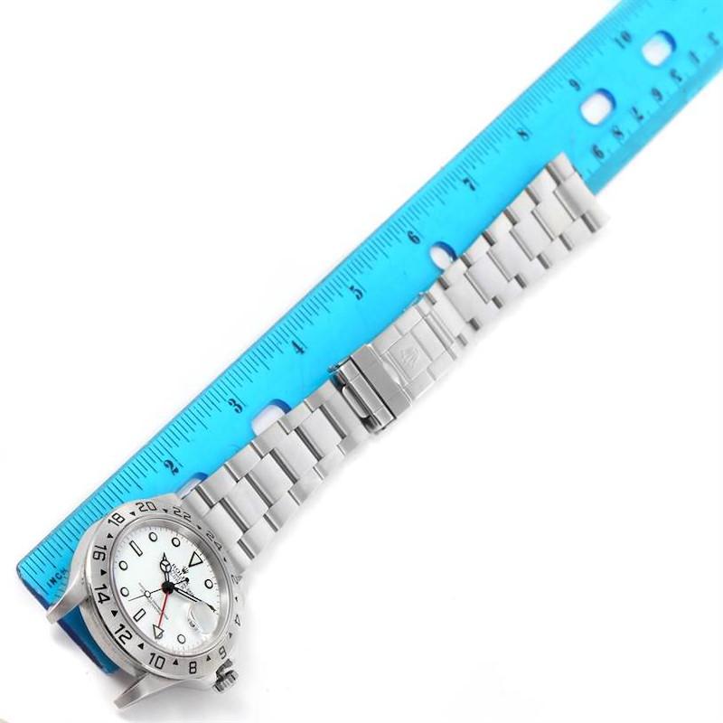 Rolex Explorer II White Dial Steel Mens Watch 16570 Year 2005 SwissWatchExpo