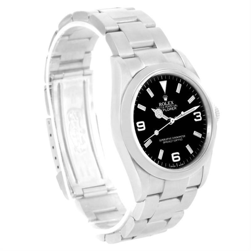 Rolex Explorer I Black Dial Stainless Steel Mens Watch 114270 Year 2007 SwissWatchExpo