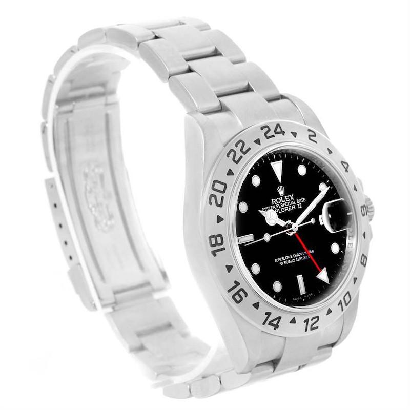 Rolex Explorer II Parachrom Hairspring Steel Automatic Watch 16570 SwissWatchExpo