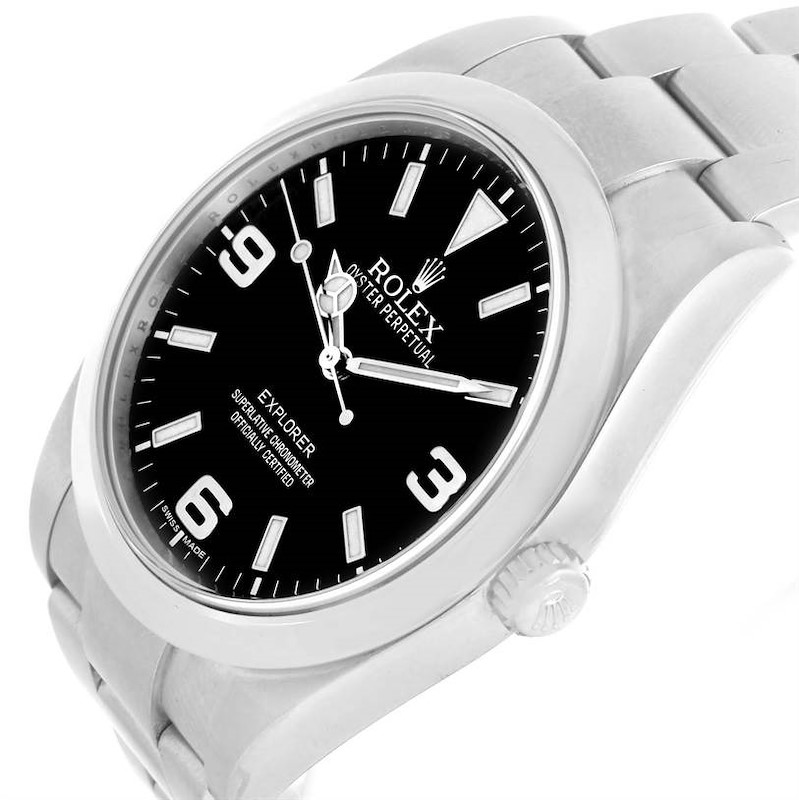 Rolex Explorer I Stainless Steel Black Dial Automatic Watch 214270 SwissWatchExpo