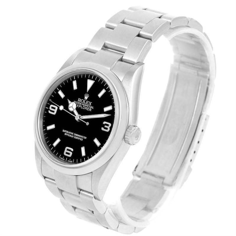Rolex Explorer I Black Dial Steel Mens Watch 114270 Year 2006 SwissWatchExpo