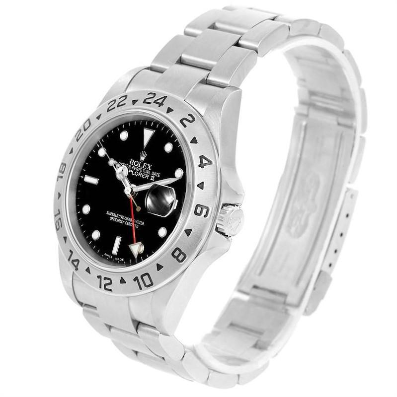 Rolex Explorer II Stainless Steel Mens Watch 16570 Box Papers SwissWatchExpo
