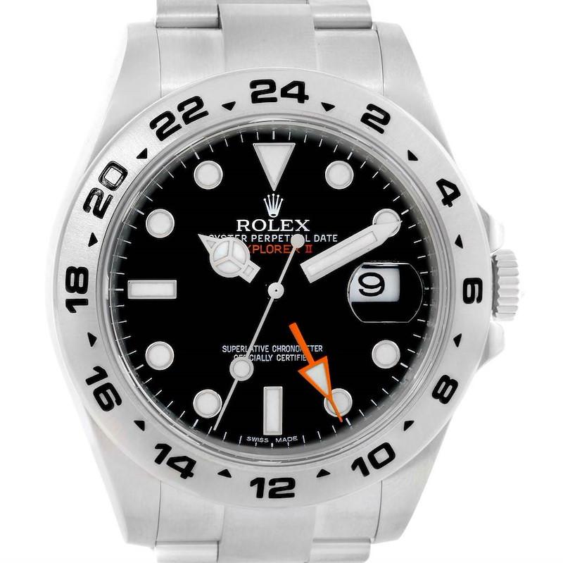 Rolex Explorer II Automatic Black Dial Steel Mens Watch 216570 SwissWatchExpo