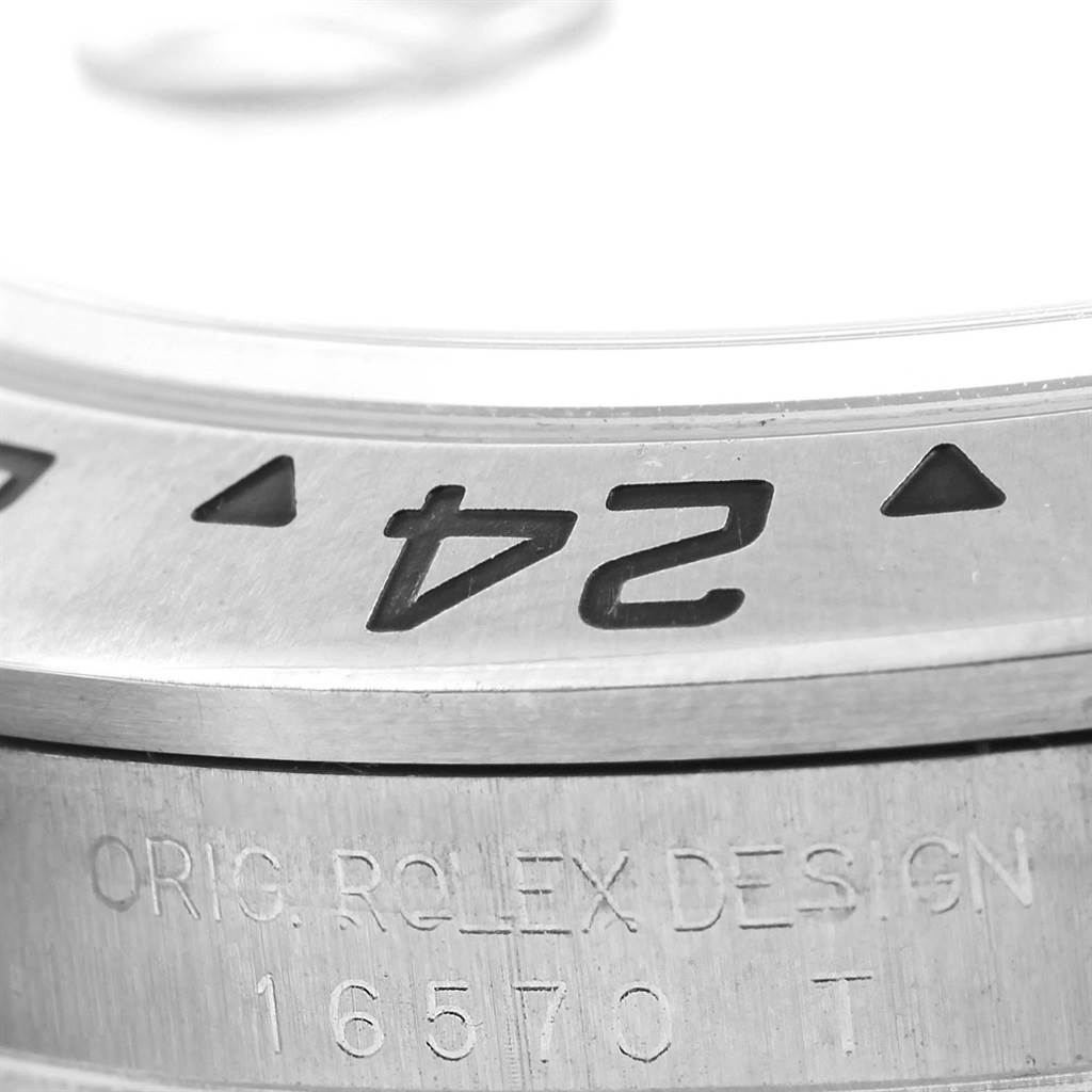 Rolex Explorer II Black Dial Stainless Steel Mens Watch 16570 SwissWatchExpo