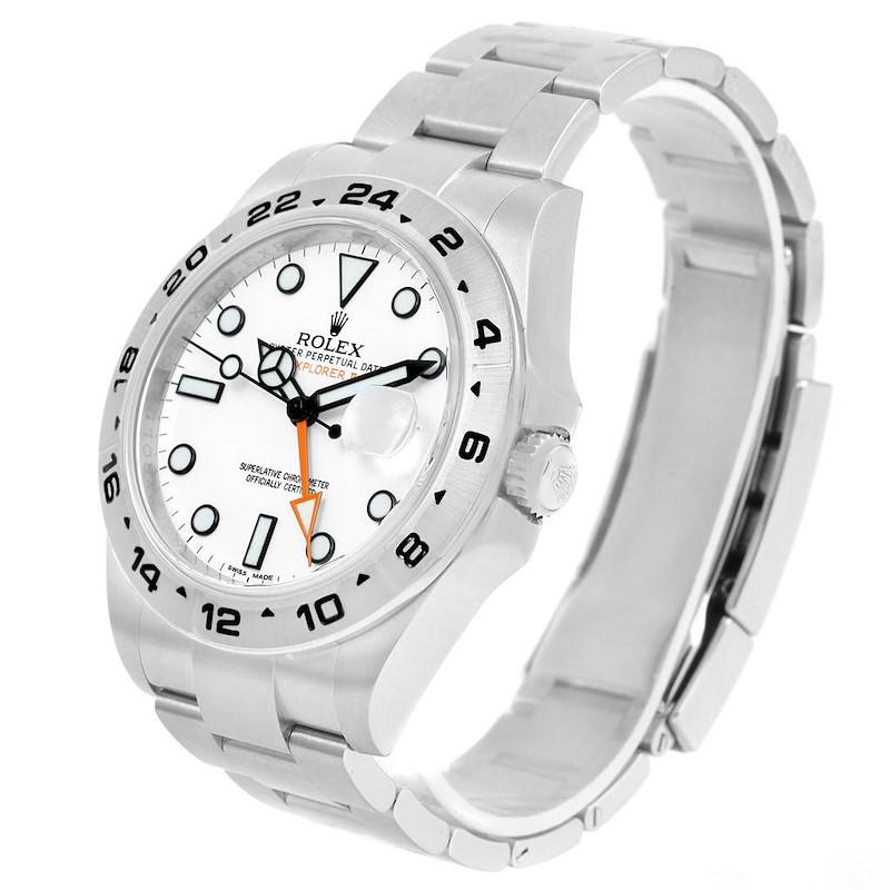 Rolex Explorer II Steel White Dial Mens Watch 216570 Unworn SwissWatchExpo
