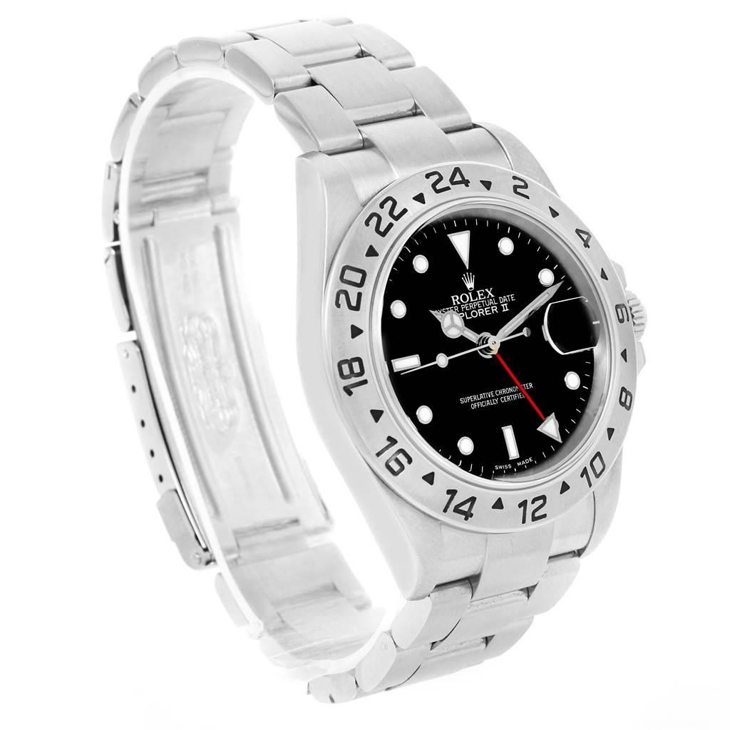 Rolex Explorer II Black Dial Steel Automatic Mens Watch 16570 SwissWatchExpo