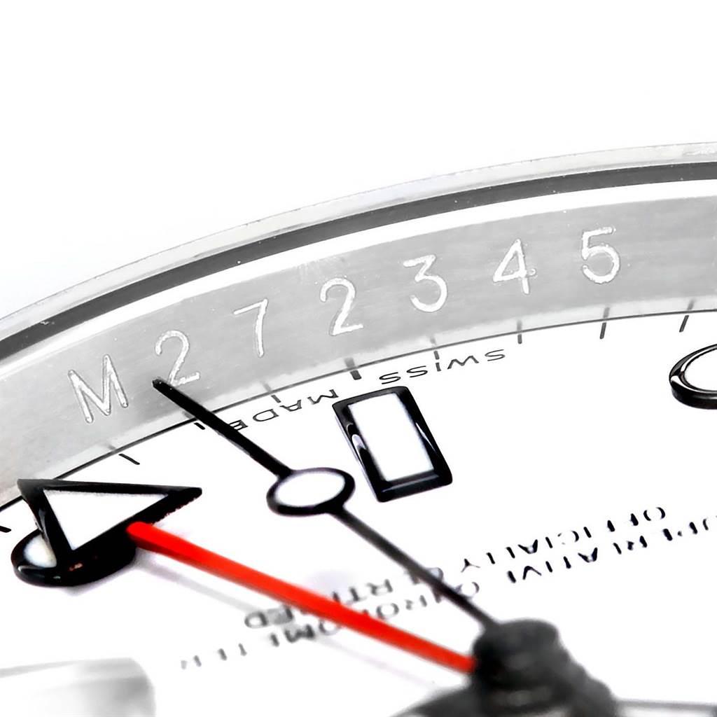 Rolex Explorer II Parachrom Hairspring White Dial Steel Watch 16570 SwissWatchExpo
