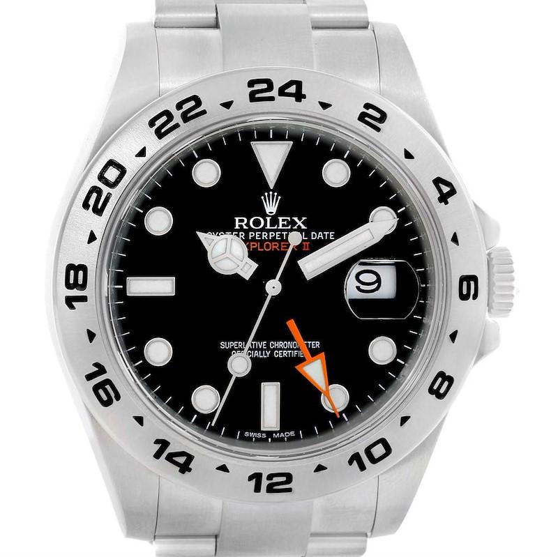 Rolex Explorer II Black Dial Stainless Steel Mens Watch 216570 SwissWatchExpo