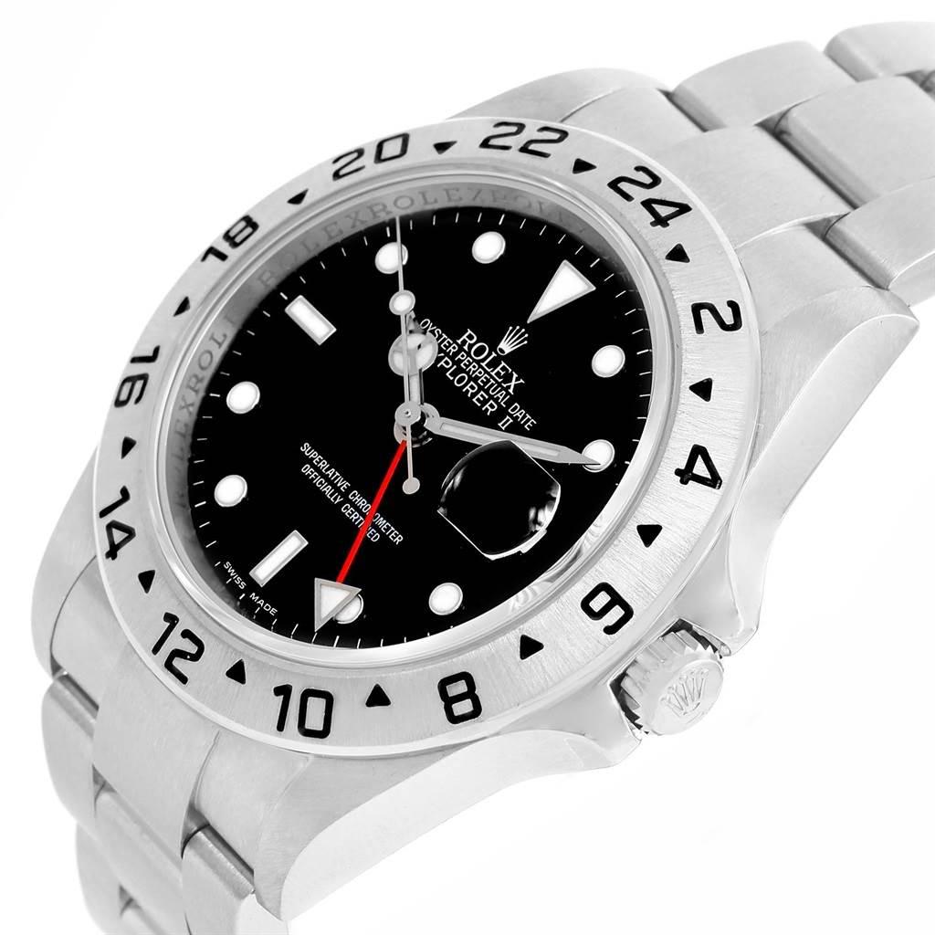 14438 Rolex Explorer II Black Dial Parachrom Hairspring Mens Watch 16570 SwissWatchExpo