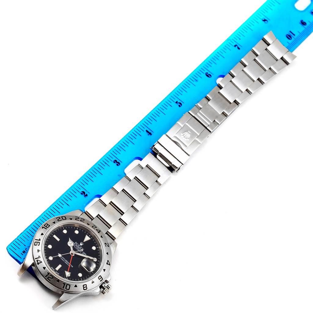 Rolex Explorer II Black Dial Stainless Steel 40mm Automatic Watch 16570 SwissWatchExpo