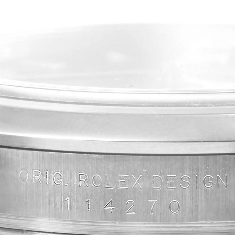 Rolex Explorer I Black Dial Oyster Bracelet Steel Mens Watch 114270 SwissWatchExpo
