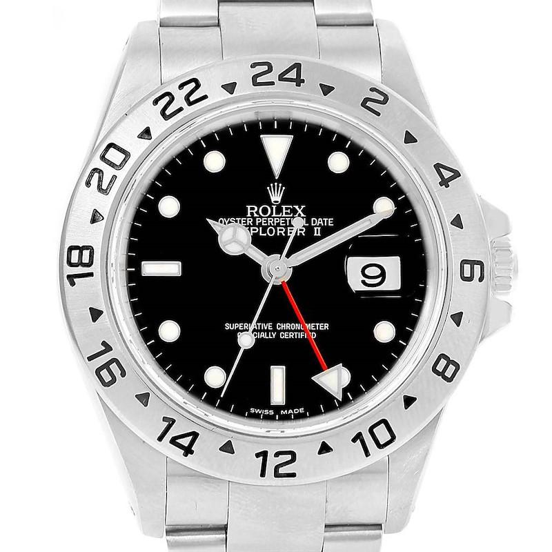 Rolex Explorer II Black Dial 40mm Automatic Mens Watch 16570 SwissWatchExpo