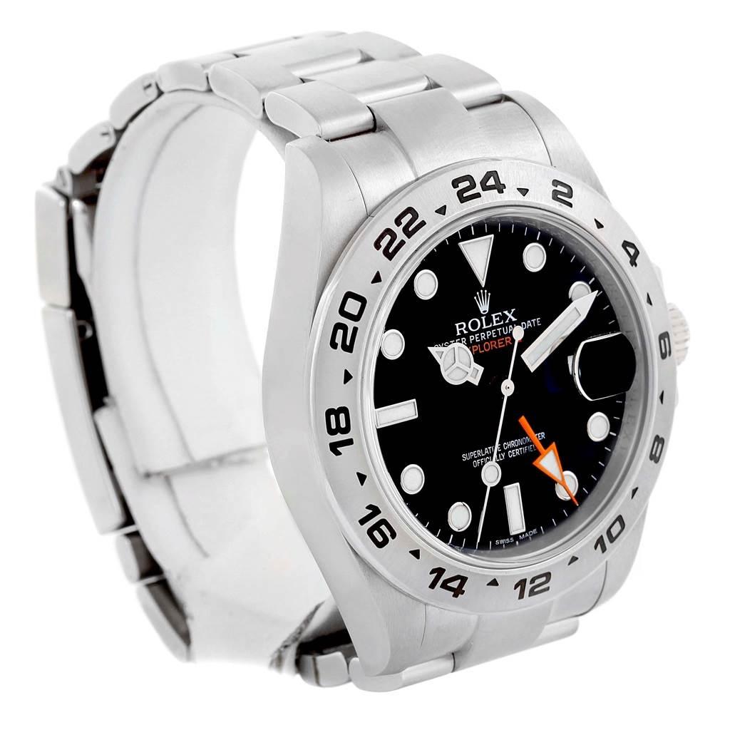 Rolex Explorer II Automatic Black Dial Mens Watch 216570 Box Papers SwissWatchExpo