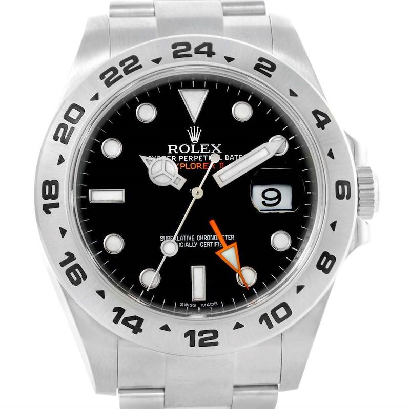 Rolex Explorer II Black Dial Steel Mens Watch 216570 Box Papers SwissWatchExpo